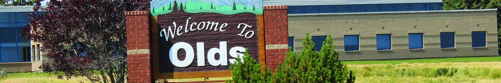 Town of Olds Sign