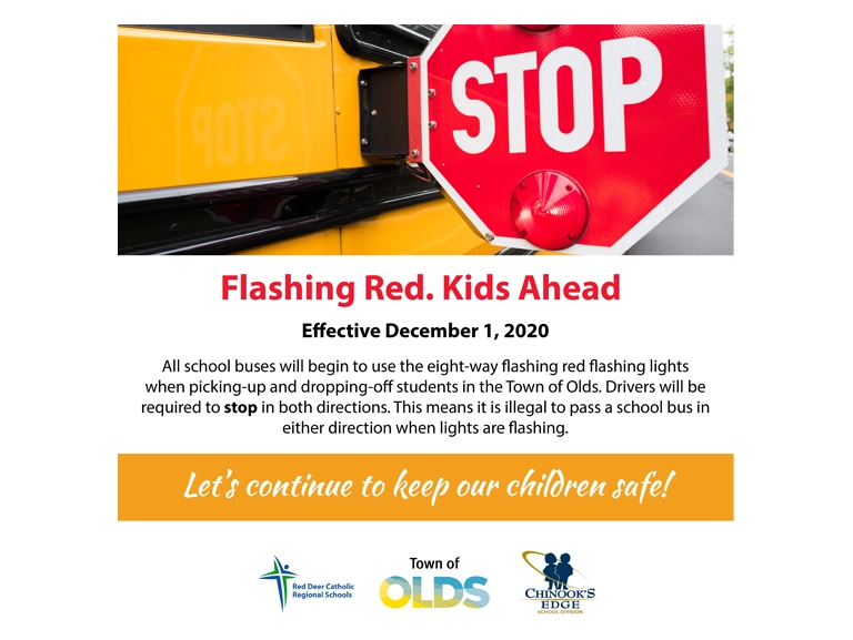 Flashing red? kids ahead!